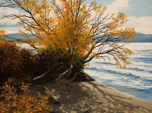 "SOLD ""Broken Branches"" by Merv Brandel 12 x 16 - oil $1260 Unframed $1540 in show frame"