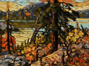 "SOLD ""Columbia, Kootenay Autumn"" by Rod Charlesworth 9 x 12 - oil $845 Unframed $1050 in show frame"