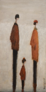 "SOLD ""Follow the Leader"" by Bev Binfet 8 x 16 - oil $500 Unframed $610 in show frame"