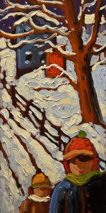 "SOLD ""In Winter"" by Rod Charlesworth 4 x 8 - oil $445 Unframed $590 in show frame"