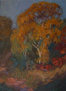 "SOLD ""Kennedy Farm, High Park"" by J.E.H. Macdonald (1910) 6 x 8 - oil on board"