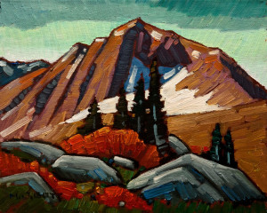 "SOLD ""Mount Lausedatt"" by Nicholas Bott 8 x 10 - oil $1040 Unframed"