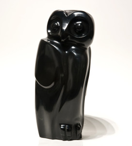 "SOLD ""Night Hunter,"" by Marilyn Armitage 11 1/2"" (H) – Chlorite $1600"