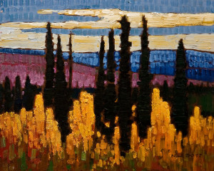"SOLD ""Northern Autumn"" by Nicholas Bott 8 x 10 - oil $1040 Unframed"
