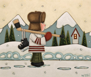 "SOLD ""The Northern Boy"" by Peter Wyse 10 x 12 - acrylic $740 (unframed panel with 1 1/2"" edging)"
