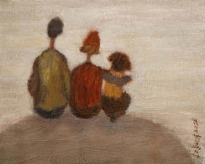 "SOLD ""On Top of the World"" by Bev Binfet 8 x 10 - oil $370 Unframed $460 in show frame"