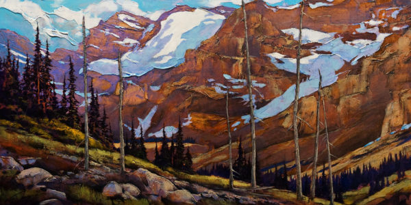 """Stanley,"" by David Langevin 24 x 48 - acrylic $3660 Unframed"