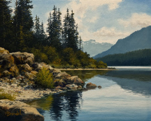 "SOLD ""Strathcona Park"" by Merv Brandel 8 x 10 - oil $750 Unframed $960 in show frame"