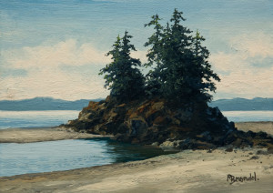 "SOLD ""Tidal Waters"" by Merv Brandel 5 x 7 - oil $630 Unframed"