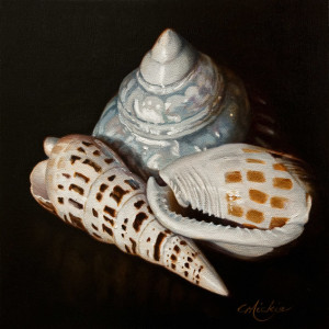 "SOLD ""Time and Time Again,"" by Mickie Acierno 10 x 10 - oil $735 Unframed $985 in show frame"