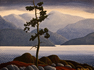 "SOLD ""Vancouver Island 1"" by Peter McConville 12 x 16 - acrylic $1015 (thick canvas wrap without frame)"