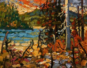 "SOLD ""Waskesiu, October"" by Rod Charlesworth 8 x 10 - oil $700 Unframed $880 in show frame"