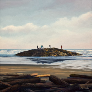 "SOLD ""Watching the Sunset"" by Merv Brandel 12 x 12 - oil $1155 Unframed $1400 in show frame"