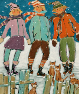 "SOLD ""The Weekend with Friends"" by Claudette Castonguay 10 x 12 - acrylic $370 Unframed $475 in show frame"