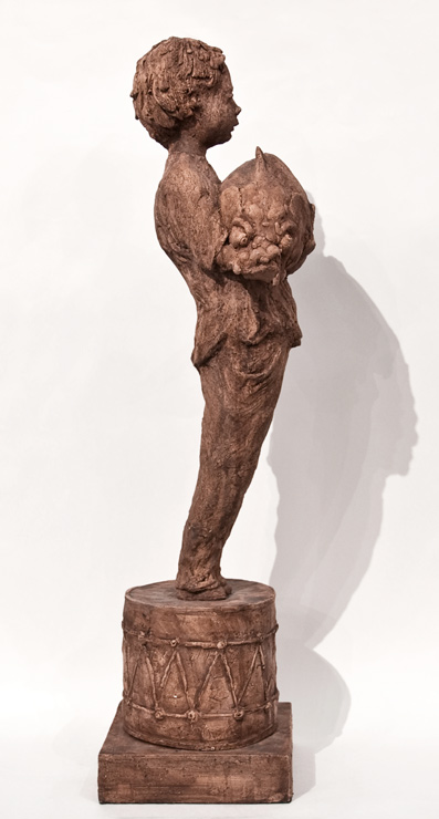 """The Weight of Light II,"" by Michael Hermesh 27"" (H) - ceramic $3500"