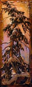 "SOLD ""The Abductee,"" by David Langevin 9 x 24 – acrylic $1065 Unframed"