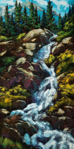 """In a Rush,"" by David Langevin 24 x 48 - acrylic $3825 Unframed"