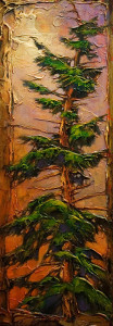 "SOLD ""My Roots Are Hot,"" by David Langevin 10 x 28 – acrylic $1250 (thick canvas wrap without frame)"