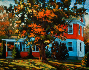 "SOLD ""One More Week,"" by David Langevin 24 x 30 – acrylic $2300 Unframed"