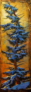 "SOLD ""So Are Mine,"" by David Langevin 10 x 28 – acrylic $1250 (thick canvas wrap without frame)"