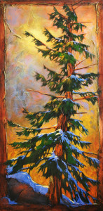 "SOLD ""Speechless,"" by David Langevin 30 x 60 – acrylic $4700 (thick canvas wrap without frame)"