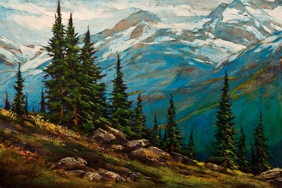 "SOLD ""Take Me Higher"" by David Langevin 24 x 36 – acrylic $2950 Unframed"