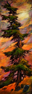 "SOLD ""There For You,"" by David Langevin 10 x 28 – acrylic $1100 Unframed"