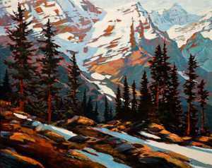 "SOLD ""Up and Over,"" by David Langevin 24 x 30 - acrylic $2575 (thick canvas wrap without frame)"