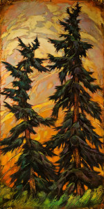 "SOLD ""We've Already Talked About That,"" by David Langevin 24 x 48 – acrylic $3700 (thick canvas wrap without frame)"