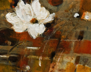 """A Busy Little Bee,"" by Susan Flaig 8 x 10 - acrylic/graphite $425 Unframed"