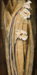 """Power of Three,"" by Susan Flaig 12 x 24 - acrylic/graphite $970 unframed"