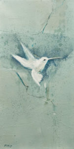 """Spirit Bird I,"" by Susan Flaig 8 x 16 - acrylic/graphite $575 Unframed"