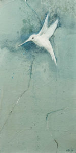 """Spirit Bird II,"" by Susan Flaig 8 x 16 - acrylic/graphite $575 Unframed"