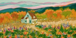 """At the End of a Beautiful Day,"" by Claudette Castonguay 12 x 24 - acrylic $700 Unframed"