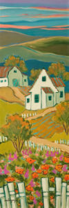 "SOLD ""At the End of the Afternoon,"" by Claudette Castonguay 8 x 24 – acrylic $560 Unframed"