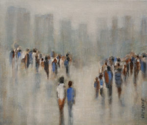 """Back to the City,"" by Bev Binfet 12 x 14 - acrylic $640 Unframed"