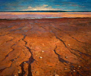 """Bay of Fundy,"" by Min Ma 30 x 36 - acrylic $5100 Unframed"