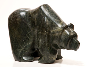 """SOLD """"Been Around,"""" by Marilyn Armitage Soapstone – 15"""" (L) x 9 1/2"""" (H) $1350"""