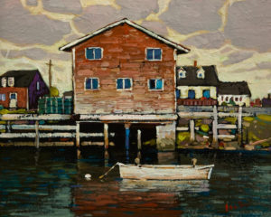 """Cloudy Dawn, Nova Scotia,"" by Min Ma 8 x 10 - acrylic $845 Unframed"