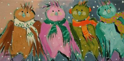 """""""Falling in Love With Us,"""" by Claudette Castonguay 6 x 12 - acrylic $310 Unframed"""