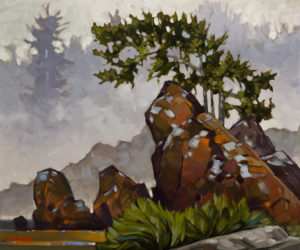 "SOLD ""As the Fog Rolled In,"" by Graeme Shaw 20 x 24 – oil $1895 Unframed"