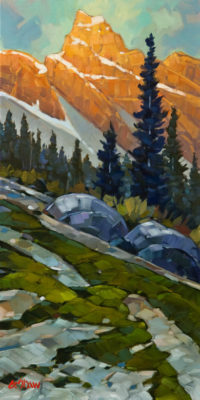 """Golden Hour,"" by Graeme Shaw 12 x 24 - oil $1065 Unframed"