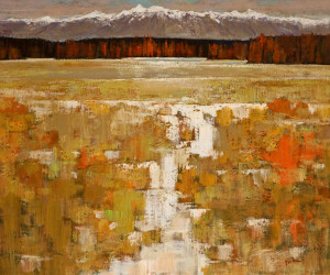 """Golden Land,"" by Min Ma 20 x 24 - acrylic $3010 Unframed"