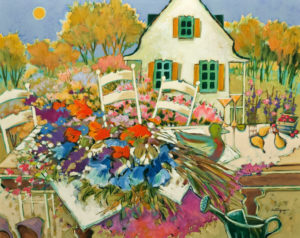 "SOLD ""It Was a Perfect Day,"" by Claudette Castonguay 24 x 30 – acrylic $1400 Unframed"