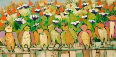 """The New Generation,"" by Claudette Castonguay 10 x 20 - acrylic $540 Unframed"