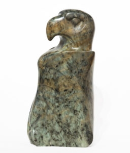 """Poised to Hunt,"" by Marilyn Armitage 17"" (H) x 9"" (L) x 5"" (W) - Soapstone $1750"