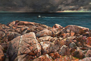 """Rocky East Coast,"" by Min Ma 24 x 36 - acrylic $4630 Unframed"