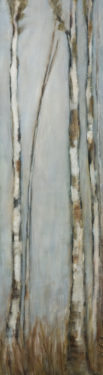 """""""A Scent of Spring,"""" by Bev Binfet 10 x 36 - acrylic $985 Unframed"""
