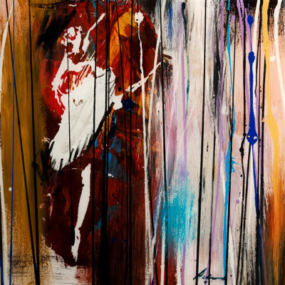 """Silver Threads III (Ballerina Series),"" by Pietro Adamo 16 x 16 - mixed media with high-gloss finish"