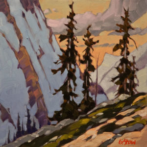 "SOLD ""Summer Side Slope,"" by Graeme Shaw 12 x 12 – oil $650 Unframed"